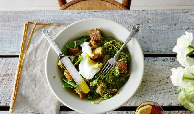 spring-vegetable-panzanella-poached-eggs
